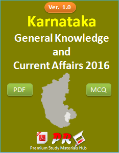 Karnataka GK & Current Affairs 2016 Question Answers [PDF]