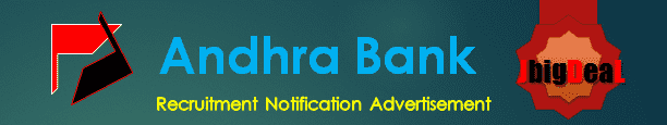 Andhra Bank Recruitment 2018 Online Application Form