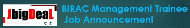 BIRAC Management Trainee Recruitment 2019 Online Application