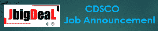 CDSCO Recruitment 2019 Online Application